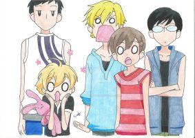 Ouran host club group pic by LadyNoriko666