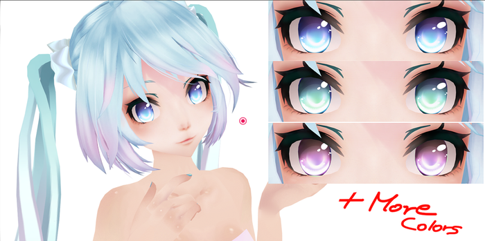 Eye Texture Pack (In different colors) Download~! by AyaneMiku