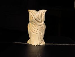 Owl Carving Back by howlinmadd123