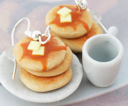 Pancake Stack Earrings by DeliciousTrickery
