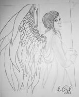 Angel sketch by dubird