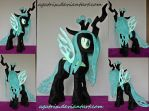 Queen Chrysalis plush by agatrix