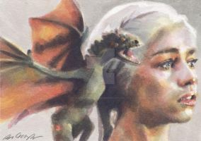 Emilia Clarke as Daenerys Targaryen by smoothdaddyride