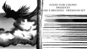 Sumi- e Brushes - Premium by Food-For-Crows