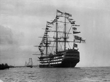 HMS VICTORY circ. 1911 All Dressed Up by StephenBarlow
