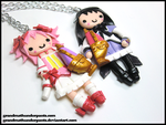 Homura/Madoka BFF Necklace by GrandmaThunderpants