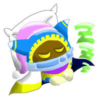 Magolor Sleeping by EllieStellerShia