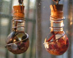 Lost Treasure - Magic Vial Golden Fire by Izile