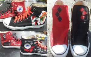 Harley Quinn Shoes by GamerGirl84244