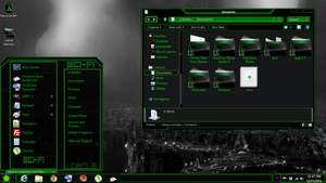 Windows 8 theme green sci-fi by newthemes