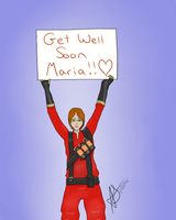 Wishing You Well Maria! by Gothalla123