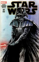 Darth Vader Star Wars #1 Sketch Cover by tbeistel