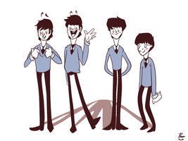 .:The Beatles Cartoon:. by Jim-the-Oni