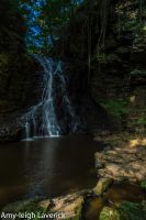 Waterfall, Hareshaw lynn by Princess-Amy