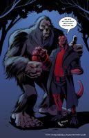 TLIID 166. Hellboy and Bigfoot by AxelMedellin