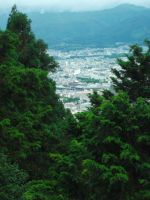 Kyoto City from the Tanukidani Temple by Dandric101