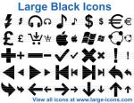 Large Black Icons by trayiconappl24