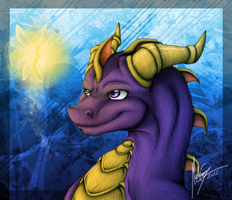 Spyro and Sparx by Shadow-Kento