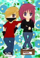 Ace and Rie - For RileySmith by XoXo-NeSs