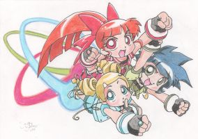 Powerpuff Girls Z by theONLYjaystar