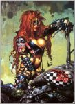 Biker-Chick by Simon Bisley by volitio