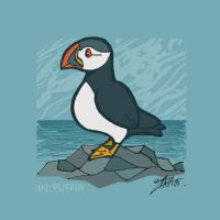 animals 02: puffin by lllaria