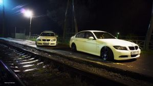 Slammed E90s 8 by BlackSelf91