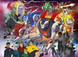 Pinup Voltron force by hanonly1