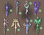 Weapon Adoption 10 Dagger set CLOSED by Forged-Artifacts