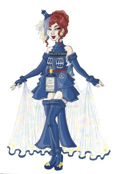 The Tardis Dress by MangiE-31