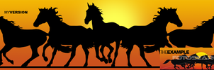 Horse silhouette by fireproofgfx