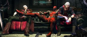 deadpool dante and nero visit in devil may cry by 8scorpion
