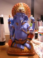 Painted Ganesha by elephantblue