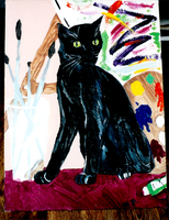 Old Cat Painting 01 by yanagi-san