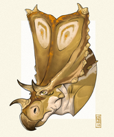Chasmosaurus by CamaraSketch