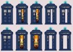 Tardis sprites by JohnnyMuffintop