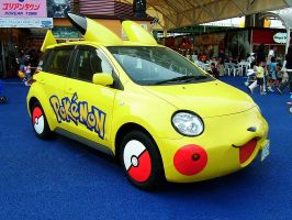 The Pikachu Car by Lucariomewsuicune