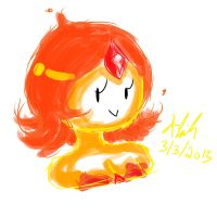 AT-Flame Princess Doodle by alazic02
