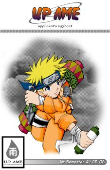 Naruto: AME sigsheet cover by ryne