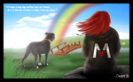 Across the Rainbow Bridge - for Sam by TheDaylightWolf