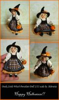 Ooak Little Witch Doll 1/12 scale by Adoratia
