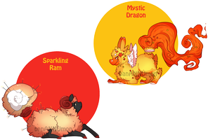 [Adopts] Chinese New Year Hover Fluffs - CLOSED by banANNUmon