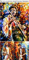 My 3 most favorite rock musicans paintings by Leonidafremov
