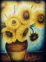 thank you for the flowers Van Gogh by misterpila