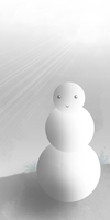 black and white snowman by alekSparx