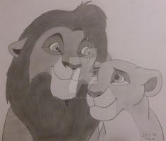 Kovu and Kiara by Skcebi