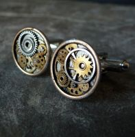 Cufflinks Model Four by AMechanicalMind