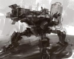 SpeedPaint Mech 01 by Ubermonster