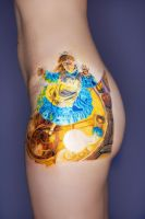 Alice In Wonderland Tattoo by Miss-MischiefX