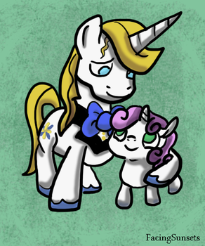 Blueblood and Sweetie Belle - Best Bro and Sis by FacingSunsets